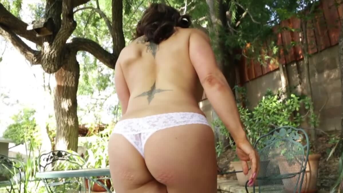 Neighbor guy enjoys incredible handjob from a naked busty...