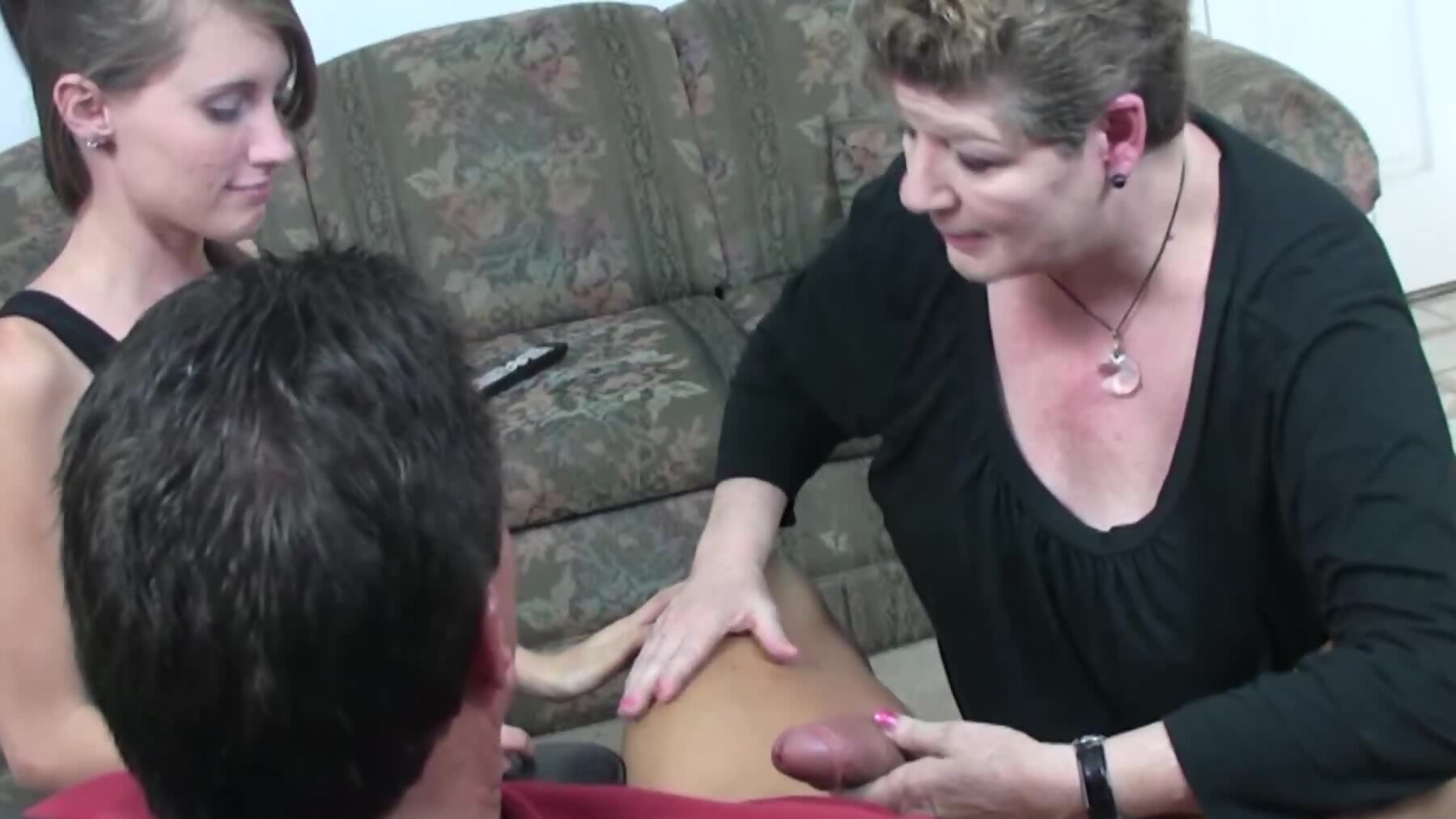 Man potently bonks sultry stepdaughter and wife