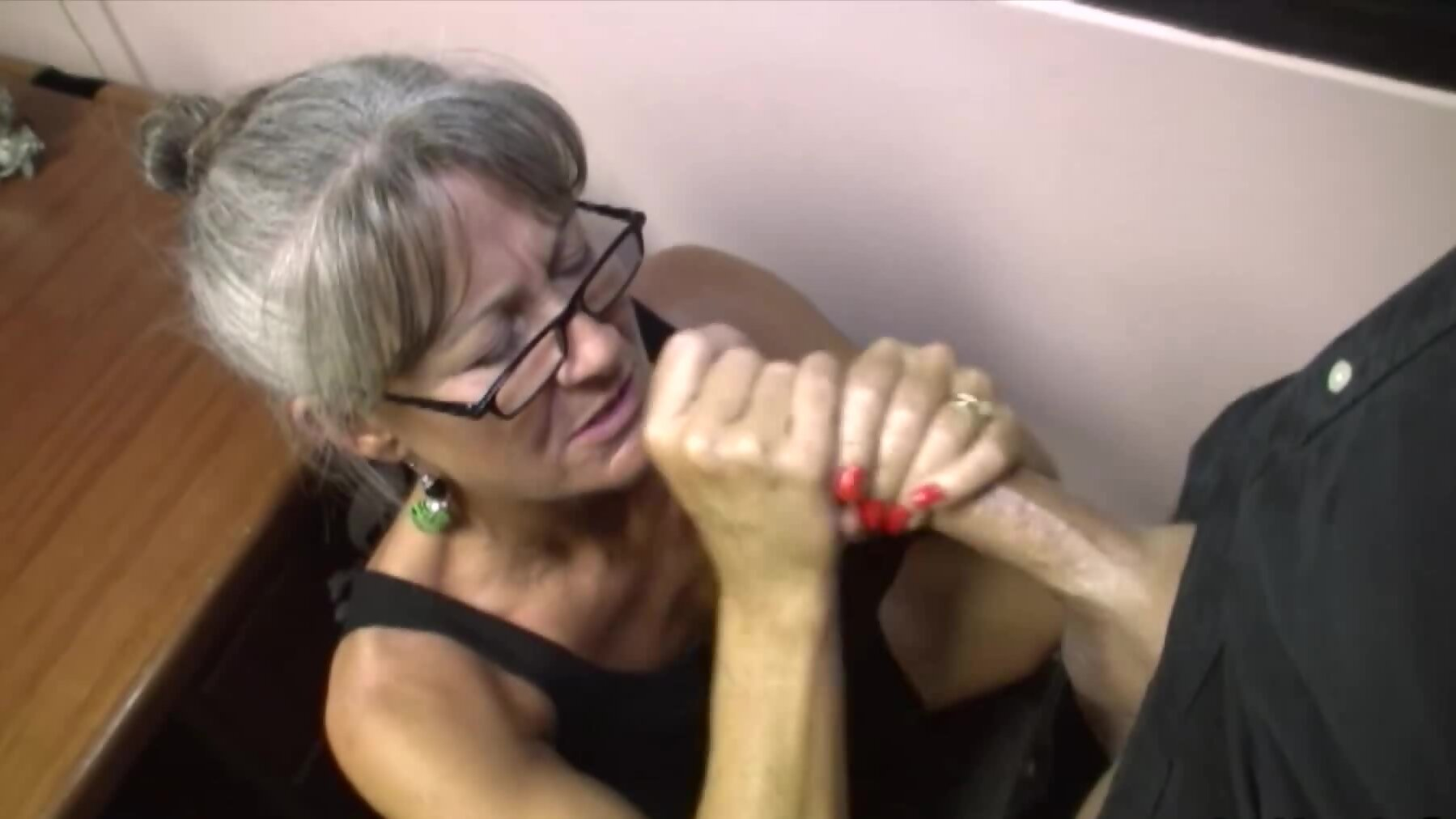 Stepmother gives blowjob hoping stepdaughter stays virgin